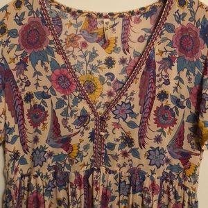 Spell Lovebird Mini Dress. Size Small. Chamomile